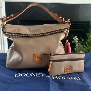 Dooney & Bourke Smooth Leather Hobo and Pouch